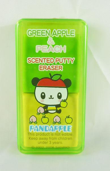 【震撼精品百貨】Pandapple Sanrio 蘋果熊貓~橡皮擦附盒