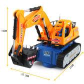 兒童電動挖掘機玩具男孩閃光音樂玩具車電動萬向工程車挖土機模型 【中秋搶先購】