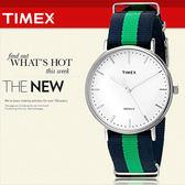 TIMEX 美國第一品牌 Waterbury INDIGLO 夜光指針錶 天美時 帆布 學院風 文青 TW2P90800
