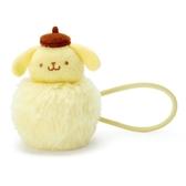 〔小禮堂〕布丁狗 毛球造型絨毛彈力髮束《黃棕》髮圈.造型髮束 4901610-17582