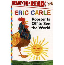 【麥克書店】《ERIC CARLE經典繪本讀本版》ROOSTER'S OFF TO SEE THE WORLD /L1