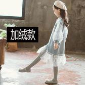 長袖洋裝 女童秋冬裝連身裙韓版2018新款中大兒童衛衣洋氣加絨加厚公主裙子