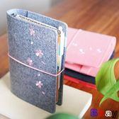 [Bbay] 筆記本 櫻花 手帳本 手賬本 方格 筆記本
