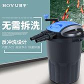 魚池過濾系統設置UV 燈除苔凈化池塘生化過濾桶器設備室外凈水MKS