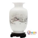 花瓶 陶瓷器小花瓶家居裝飾品擺件插花干花...