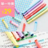 彼兔 betwo.螢光筆 QNA*多種糖果色固體造型標記彩色記號螢光筆【550-AL60】06990912現貨