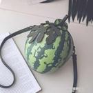 水果包個性搞怪創意設計蘋果草莓西瓜水果斜背包定型單肩包女包趣味可愛(快速出貨)