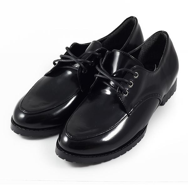 小尖頭綁帶學生鞋 黑 女款