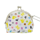 剪影款【日本進口正版】皮卡丘 伊布 半月型 珠扣包 零錢包 神奇寶貝 PIKACHU - 190089
