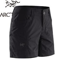 【ARC TERYX 始祖鳥 Parapet Short Women s 女款 快乾短褲《黑》】17125/春夏款/快乾短褲/休閒短褲