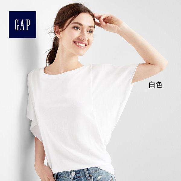 復古水洗蝴蝶袖T恤