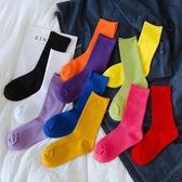 襪子女中筒潮ins街頭夏季薄款黑色堆堆襪韓國網紅夏天透氣長筒襪