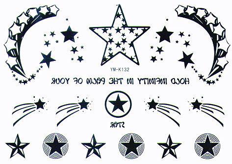 薇嘉雅 星星 月量 紋身貼紙 K132