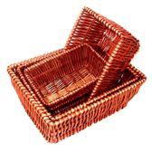 柳編收納筐展示架水果盤藤草編蔬菜食品籃子面包筐編織籃超值  野外之家DF