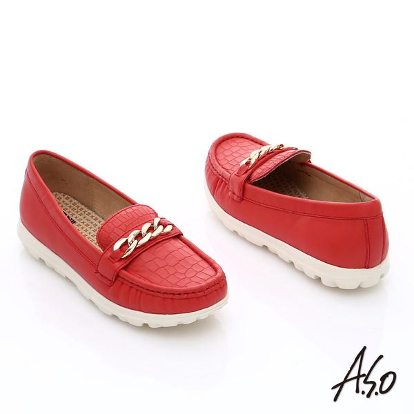 A.S.O 活力微笑 輕量時尚休閒鞋  橘