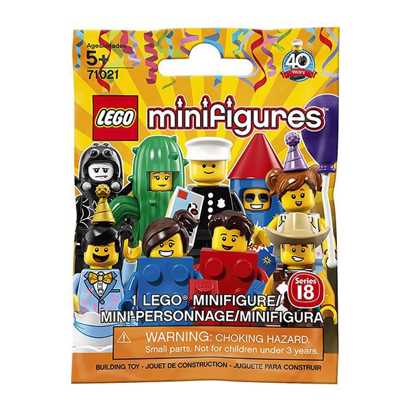 樂高積木LEGO 樂高人物系列 71021 樂高人偶包 第18代 派對(隨機一入)
