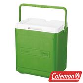 【美國Coleman】17L置物型手提式冰桶-綠 CM-1323J 露營 冰桶 保冷 保溫 保冰