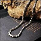 【虹光之誓】925純銀 手工編織蛇骨項鏈男士頸鏈