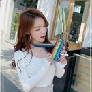 彩虹腕帶蘋果12手機殼新款個性創意iphone12mini限量版液態硅膠套一米陽光一米陽光