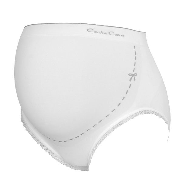 內褲 / 孕婦內褲 法國 Cache Coeur - ILLUSION 款 無縫孕婦內褲 象牙白 CL1210
