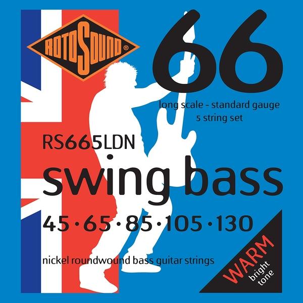 小叮噹的店 英國ROTOSOUND RS665LDN (45-130) 五弦電貝斯弦 Nickel 旋弦公司貨