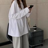 寬鬆長袖t恤女裝外穿秋衣內搭打底衫女士上衣【聚物優品】