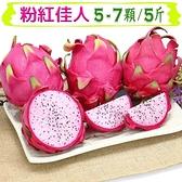 【南紡購物中心】【愛蜜果】粉紅佳人火龍果5-7入禮盒 (約5斤/盒)