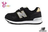 New Balance 313 運動鞋 中童 透氣 復古慢跑鞋 O8460#黑金◆OSOME奧森鞋業