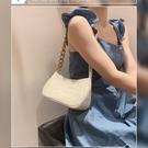 粗鏈條法棍包手提2021新款小眾腋下包女復古氣質鱷魚紋單肩小包包 印象家品