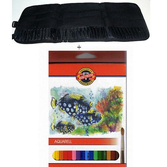 捷克製KOH-I-NOR 水性色鉛筆+筆袋(可置入36支筆袋)