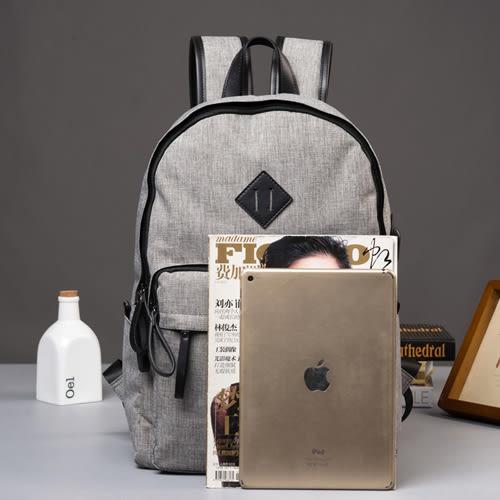 PocoPlus 男士後背包休閒旅遊旅行運動背包韓版電腦包大學生書包男時尚潮流 B885