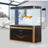 大型魚缸水族箱1米中型長方形玻璃生態金魚缸 DF 科技藝術館
