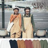 Queen Shop【01038000】素面單口袋造型上衣 六色售*現+預*
