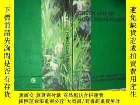 二手書博民逛書店CHECK罕見LIST OF HONG KONG PLANTS