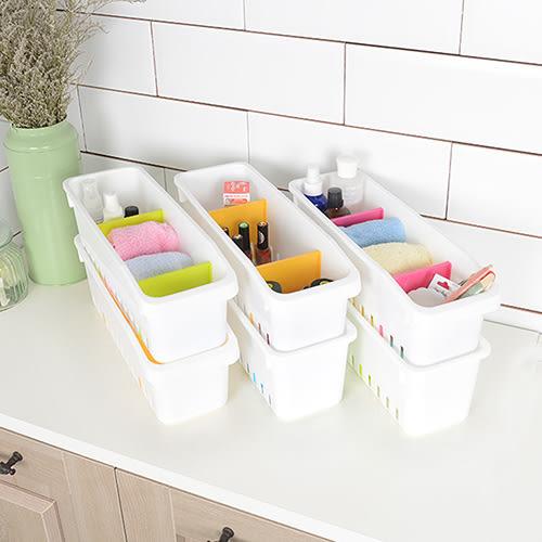 【nicegoods】和風漾彩分類收納盒-附隔板 (6入隨機出色) (塑膠盒 整理盒 收納盒)