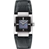TISSOT天梭 T02 優雅真鑽女錶-黑珍珠貝x灰/23mm T0903101612600