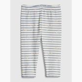 Gap女嬰柔軟妙趣印花彈力內搭褲525779-藍色條紋