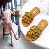 平底拖鞋拖鞋女夏外穿時尚百搭新款軟底沙灘一字拖平底度假網紅涼拖鞋 可然精品