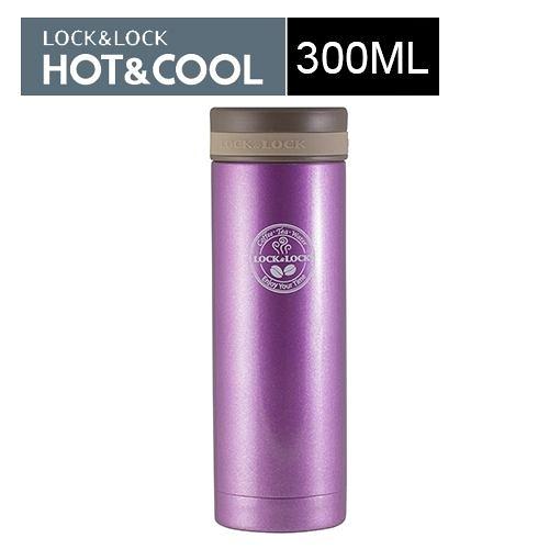 樂扣樂扣不鏽鋼保溫杯(300ML) 迷你珠光紫
