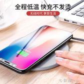 iPhoneX無線充電器iphone8蘋果8plus手機三星s8快充QI專用板八X     檸檬衣舍