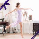 東京衣服 蜜糖女伶 輕甜馬卡龍色系 深V抓紗高腰設計前短後長小禮服 粉紫