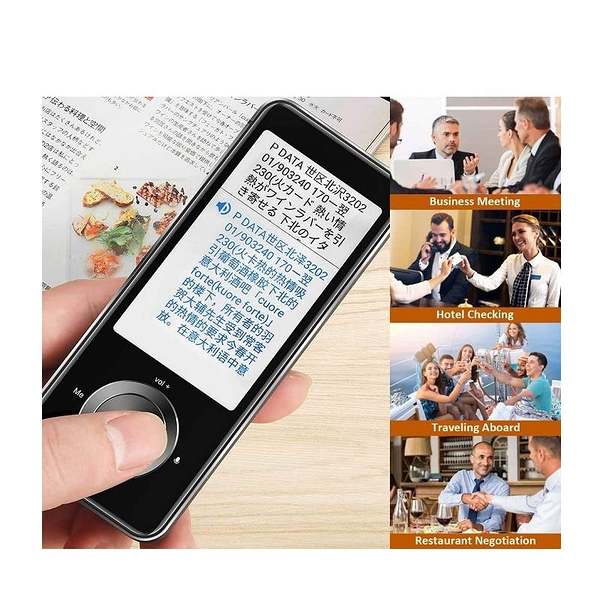即時雙向翻譯機 108語言 12種離線翻譯 43種照片翻譯 Voice Translator 3.0 Inch Touch Screen [9美國直購]