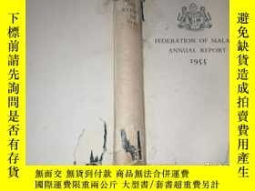 二手書博民逛書店federation罕見of malaya annual rep