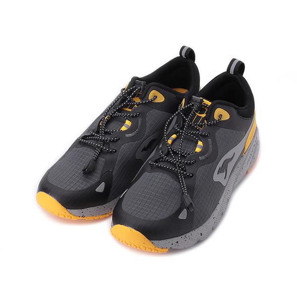KANGAROOS ZEPHYR 超輕量慢跑鞋 黑灰黃 KM11978 男鞋