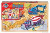 拼圖 盒裝木制 火車農場恐龍工程車消防車海洋 4合1 古梵希DF