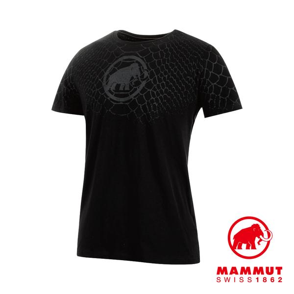 Mammut 長毛象 Logo T-Shirt Men 機能LOGO短袖 T-Shirt 男款 黑色PRT1 #1017-07292