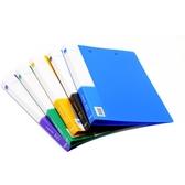 5個得力文件夾資料冊A4插頁夾透明收納袋