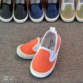 新款一腳蹬套腳鞋兒童布鞋男童鞋女童糖果色軟底帆布鞋寶寶室內鞋 新年鉅惠