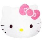 【震撼精品百貨】Hello Kitty 凱蒂貓-HELLO KITTY可愛造型絨毛地墊-白色