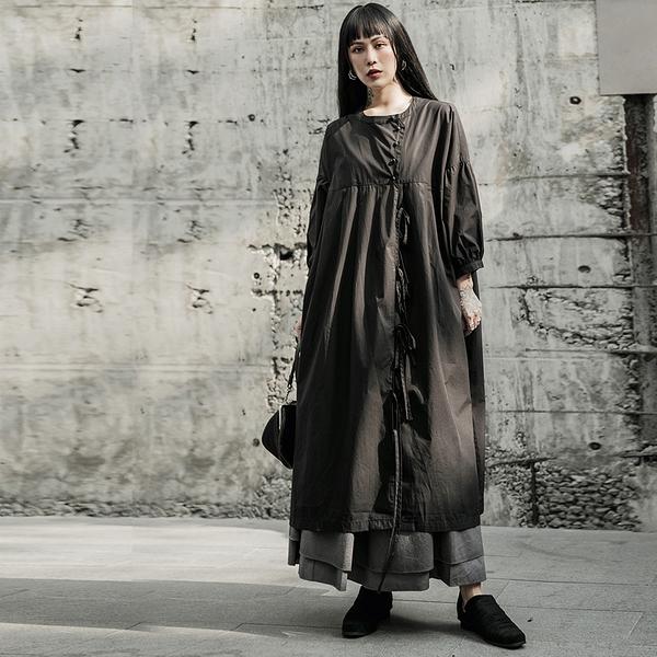 暗黑復古山本風寬鬆娃娃衫式洋裝/設計家